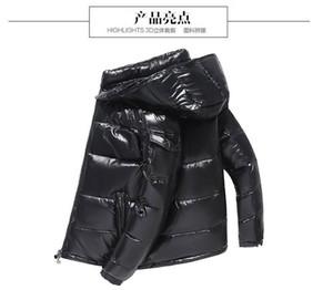 2019 Tasarımcı Ceketler Kış Ceket Erkek Beyaz Ördek Aşağı Ceket Hoodies Siyah Mavi Ile Doudoune Homme Hiver Marque Dış Giyim Parka Coat