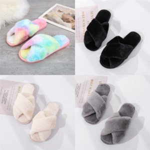 tMnAr quality fashion trend single and sandals and slippers plush summer Cross switch, casual design slipper for woman slippers, soft