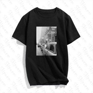 Moda Kısa Kollu Tişört Lama A Taksi On Times Square Baskılı% 100 Pamuk Üst Tees Günlük O Yaka T Shirt Unisex