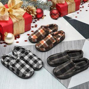 Winter Men Shoes Warm Plush Slippers Men Outdoor Indoor Home Slipper Unisex Flip Flops Non-slip Slides Casual Mule chanclas homb #vx4i