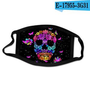 40Style Butterfly Skull Make Mask Make Печатная Мойка Многоразовая Многоразовые Маски Ледяной Шелк Мода Анти пыль Взрослые Дети Защитный PPC2102