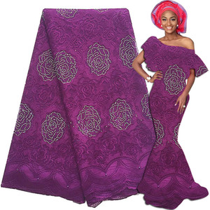 2020 Embroidery Swiss Africa Lace High Quality Lace Fabric African Mesh French Lace Fabric 5 Yards Wedding Dresses For Women