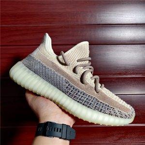 2021 Kanye West Men Женщины Беговые Обувь Обувь ASH PEARL SANG TAUPE CORED Zyon Fade Zebra Israfil Oreo Белье Высококачественные Кроссовки Размер 4-13