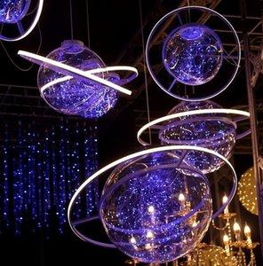 Ezkyn Nuovo acrilico pianeta spazio lampadario Starry Sky cerimonia nuziale della sfera locale Props chandelierlayout puntelli lampadario decorazioni oPHhP
