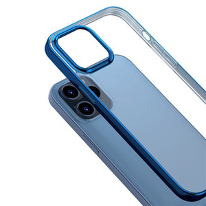 SHOCKPROOF TPU Electroplate Clear Case for iPhone 12 Mini 12 Pro iPhone 11 PRO MAX iPhone 12 Flexible Cover Cases