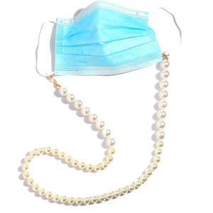 FlatFoosie Fashion Imitazione Perle Maschera per le perle Cordino per le donne 70 cm di colore oro perline occhiali occhiali catena occhiali da sole cordino gioielli h jllxlv