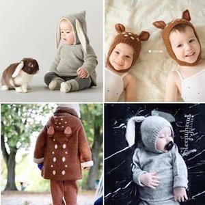 OEUF Baby Wolle Strickpullover Reizende Schafe Fawn Pullover Kinder Kleinkind Jungen Mädchen Winterqualität Marke Kleidung und Hut Y200901