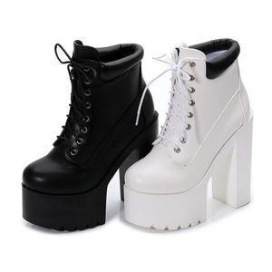 14cm dicke Ferse Super High Heel Hate Sky Dance T Bühne Nachtclub Knight Stiefel kurze Stiefel Damenschuhe
