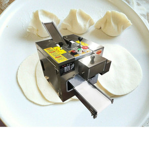 2020 Melhor Preço de Fábrica Pequeno Tabletop Automatic Wonton Massa de Massa Fazendo Máquina / Dumpling Gyoza Wrapper Machine Square DummplingskinMachine