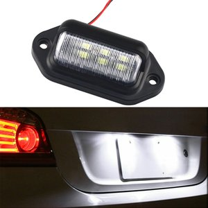 6LED Universal license plate lamp is suitable for car truck, coach, trailer, side lamp 12-24 v