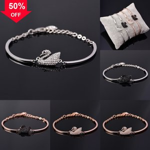 7XOkm Lovers bracelet Stainless Price Factory Couples click Steel Peach Heart 925 sterling silver Charm Pendant Necklace Bracelet Bangle Swa