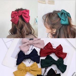 Top fashion Big Bow Hairpin Cute Red Barrette Pink Hair Clip Women Girls Kids BB Hairgrip Korean Oversize Floral Hair Accessories