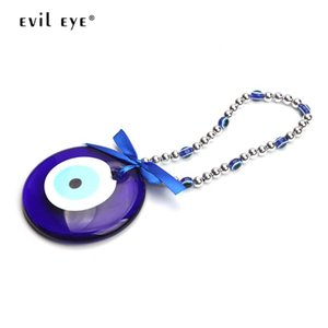 EVIL EYE Wall Hanging Decorations Car Keychain Glass Blue Turkish Evil Eye Pendant Jewelry for Office Home Living Room EY1367