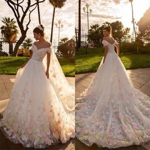 Цветочные пляжные свадебные платья сексуальные снимки свадебные платья Кружева Аппликация на заказ Boho Train Train Vestido de Novia