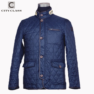 CITY CLASS New Spring Autumn Mens Coat Quilted Jacket Business Casual Fashion Bomber Jacket Coats for Male 8006 201026