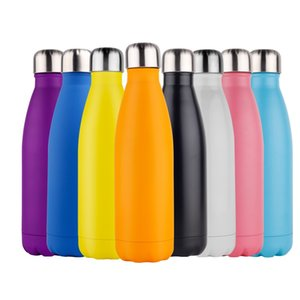 Double Walled Vacuum Insulated Water Bottle Cup Cola Shape Stainless Steel 500ml Sport Vacuum Flasks Thermoses Travel Bottles DWB2695
