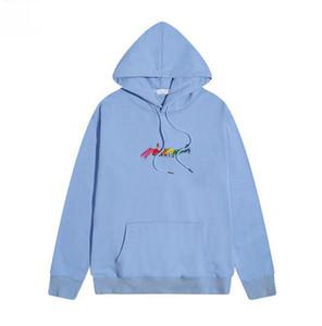 2020 Winter-Europa Paris Kleidung der Männer Farbe Stickerei Buchstabedruckes Sweatshirt Frauen Pullover Mode Pullover Designer Hoodie