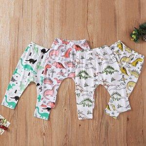 New arrival Baby Boys Girls 6M-3T Cotton Cute Dinosaur print long Pants Children fashion trousers 4pcs lot