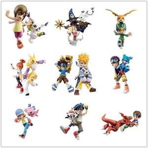 Figura japonesa Anime Digital Digimon Aventura Ishida Yamato Gabumon Yagami Taichi Agumon Hikari Sora PVC Digimon 201203
