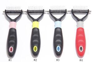 Pet Grooming Kamm Tool 2 Sided Vorst Rake für Hunde Katzen Sicher Dematting Pet Supplies Kamm-Haar-Remover EEA1060