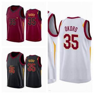 2020/21 Erkekler ISAAC Okoro 35 Jersey Yama Yüksek Kaliteli Basketbol Forması Var