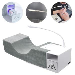 USB 래쉬 빛 아름다움 목 지원 도구와 메모리 폼 래쉬 베개 선반 손톱 확장 속눈썹 연장 베개 메이크업 도구
