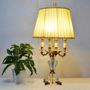 Lampadario moderno Lampada da letto Camera da letto Lampada da comodino di lusso Lampada da tavolo di cristallo di lusso Abajur lampada da tavolo da comodino K9 Lusso
