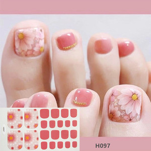 22 dicas Glitter Series Pó Sequins Moda Toe Nail Art Stickers Coleção Manicure DIY Nail Polish Tiras Wraps para Party Decor