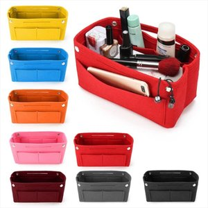 Cosmetic Bags THINKTHENDO 1PC Multifunction Handbag Cosmetic Organizer Purse Insert Bag Felt Fabric Storage Pouch Case