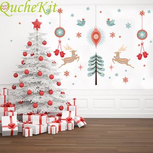 "Christmas decorative wall stickers""; snowflakes, glass, windows, PVC, wallpaper, waterproof wallpaper, decorate the house"