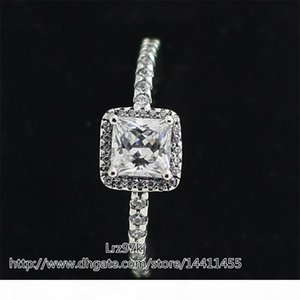 High quality 100% 925 Sterling Silver Timeless Elegance Ring with Clear CZ European designer Style Jewelry Charm