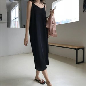 Daily Maternity Clothes Chiffon Suspender Maternity Dresses Loose Mid Dress Summer Pregnant Dress Clothing Plus Size 2020