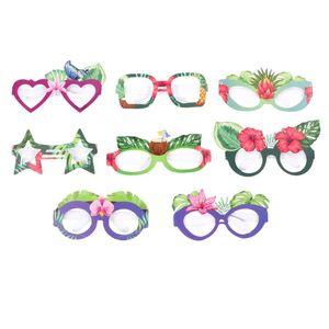 8pcs Birthday Party Glasses Decor Funny Paper Glasses Creative Sunglasses Decorative Props Hawaii Party Favors sqcdIG sports2010