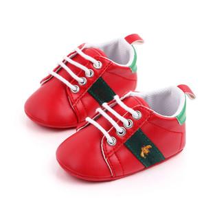 Newborn Baby Boy Girl Crib Zapatillas de cuero Faux Cuero Infantil Niño Prió Pero Walker Sneakers New Baby Shoes