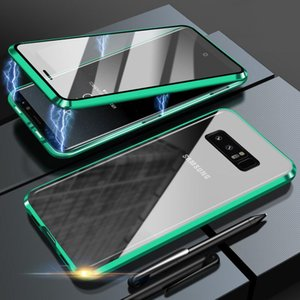 Double-sided Magnetic 360 Protect Case For Samsung M51 A51 A71 A41 A50 A70 M31 S20FE S10 S9 S8 Note20 Tempered Glass Metal Cover