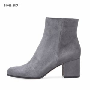The New Short boots Fashion boots Women's model ladies shoes Net red shoes 6CM High heels winter Nightclub 4-13 14 BBZAI