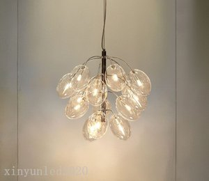modern creative golden grape pendant lights Nordic Living Room dinning room glass bubble LED Hanging Lamps home decor fixtures