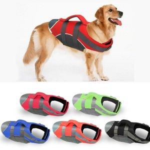Pet Large Dog Swimming Suit Labrador Golden Retriever Dog Surfing Swim Vest Clothes Swimwear Costume Pet Supplier 201030
