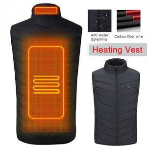 Alpine male hiking USB vest winter heating coat outdoor sports windproof glass thermoelectric carbon fiber men's coat v606