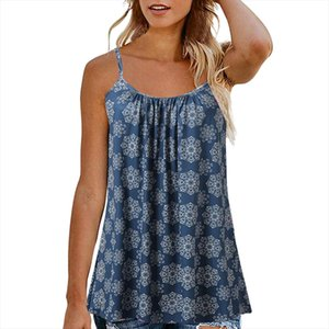 Women Summer Printed Camisole Tops Sleeveless Vest Blouse Tank Tops Camis Clothes Streetwear Underwear Women Haut Femme 2020