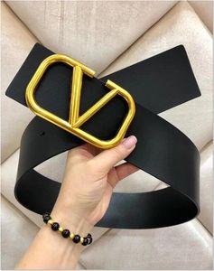 diseñador de moda cinturones hombres mujeres cinturón ancho grande 7CM hebilla del cinturón de cuero genuino para la mujer Cinturones Luxur libera la nave