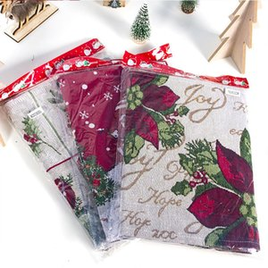 Elk Linen Runner Merry Decoration for Home Christmas Table Ornaments Xmas Navidad 2020 New Year 2021