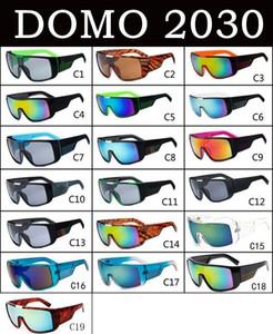 DOMO 2030 lunettes de soleil Marque Designer Oculos de Sol Big Face Hommes Cadre sportif Revêtement Lunettes Lunettes de soleil lunettes Masculino