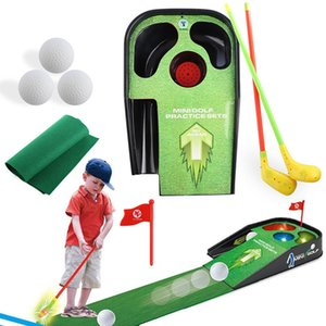 Miniature golf indoor accessories components golf practice equipment swing auxiliary training practice simulation children's toy game