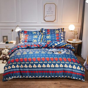 3 4pcs Bohemian Style Bedclothes Duvet Cover Quilt Set Bed linen Luxury Bedding Set Queen Twin Bedding Gift for Girls boys