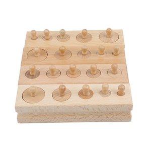 Çocuklar Silindir Soket Blokları Oyuncak Bebek Gelişimi Uygulama Ve Senses 200.930 İçin Montessori Eğitim Ahşap Oyuncaklar