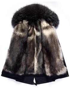 Мужская кожа из искусственного пальто зимняя куртка Real Wolf Liber Parka мужская одежда 2021 енота из енота воротник из еды теплые куртки плюс размер 5xl my1725
