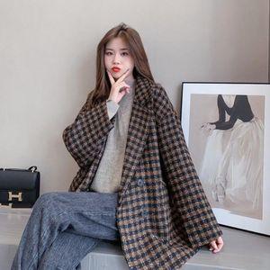 Yocalor Manta Casaco de Lã Pano Mulheres Casaco Mulheres Nova 2021 Outono Inverno Overcoat Outerwear Casacos