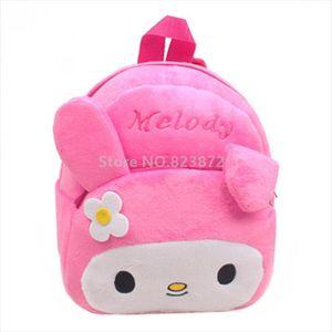 Benim Melodi Tavşan Kawaii Sevimli Pembe Peluş Çanta Bebek Kız Kindergarten Okul Öncesi Sırt Çantaları Çocuklar Schoolbag Sırt Çantası Okul Çantaları