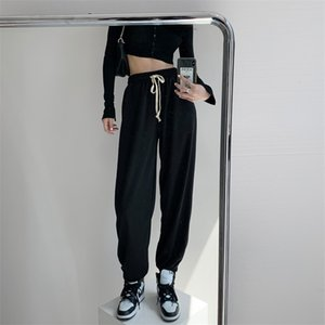 Cool fashion loose Jazz Hip Hop drawstring sports pants ins fashion casual Leggings Jazz Hip Hop Pants